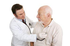 senior having a medical checkup